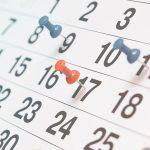 Calendário do empregador doméstico para 2018