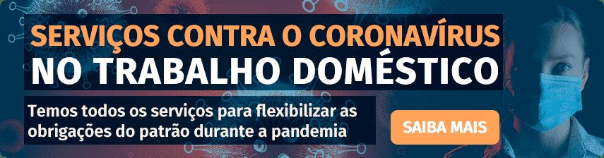 serviços contra o coronavírus no trabalho doméstico