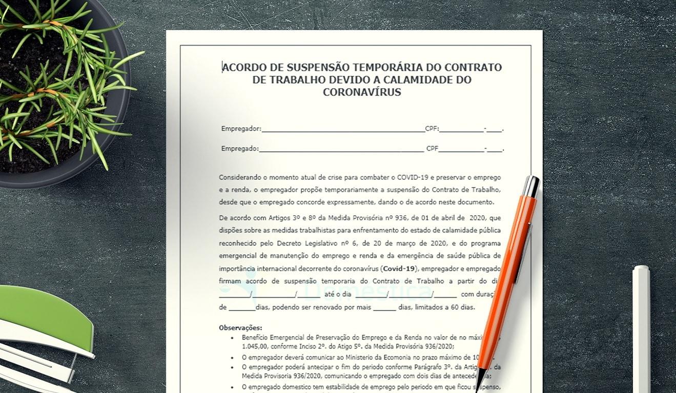 Suspensão temporária do Contrato de Trabalho