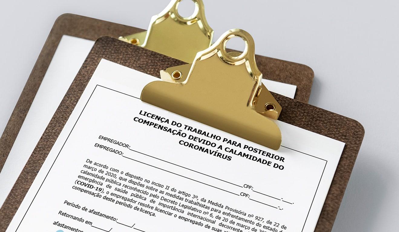 Licença do trabalho para posterior compensação em dias úteis